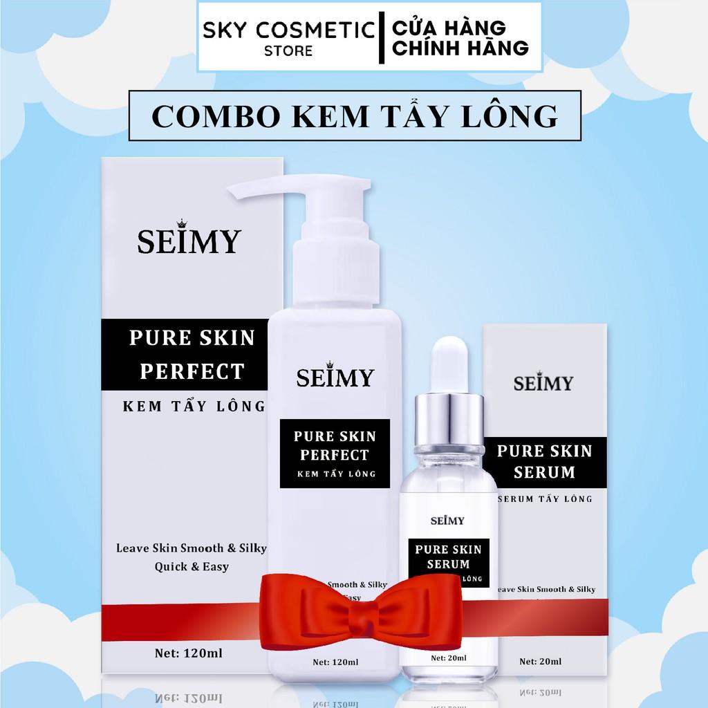 Kem Tẩy Lông Seimy - Pure Skin Perfect tẩy mọi loại lông vĩnh viễn nhanh gọn chỉ 5 phút mịn da