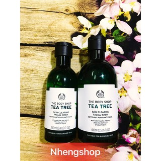 [Full 250/400ml] Sữa rửa mặt TEA TREE SKIN CLEARING FACIAL WASH The Body Shop