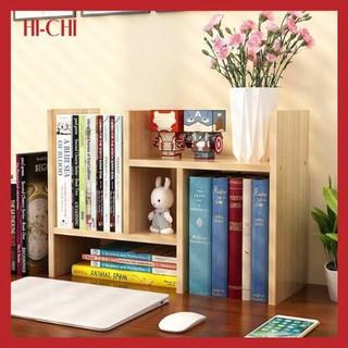 Giá sách mini bằng gỗ cao cấp dễ lắp đặt và di chuyển cho học sinh sinh viên văn phòng