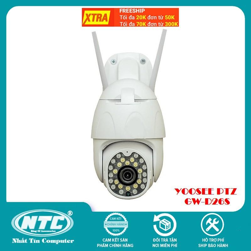 Camera IP Wifi Ngoài trời Yoosee GW-D26S PTZ 2 Râu FullHD 1080P 14 LED trợ sáng, 12 hồng ngoại, đàm thoại 2 chiều