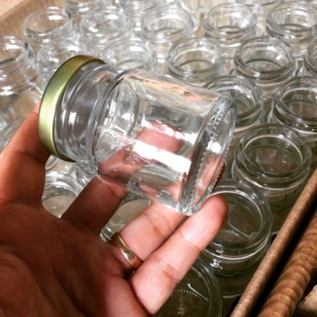 Hũ thủy tinh làm sữa chua nắp thiếc (hàng loại 1) khó vỡ