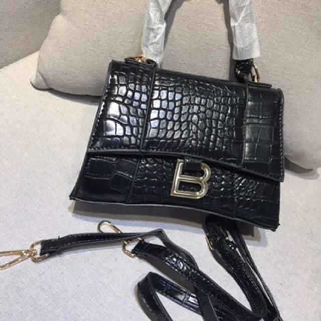 Túi xách nữ balen chữ B da cá sấu giá rẻ HT46