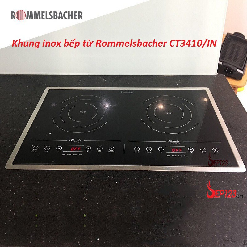 Khung inox bếp từ Rommelsbacher CT3410/IN