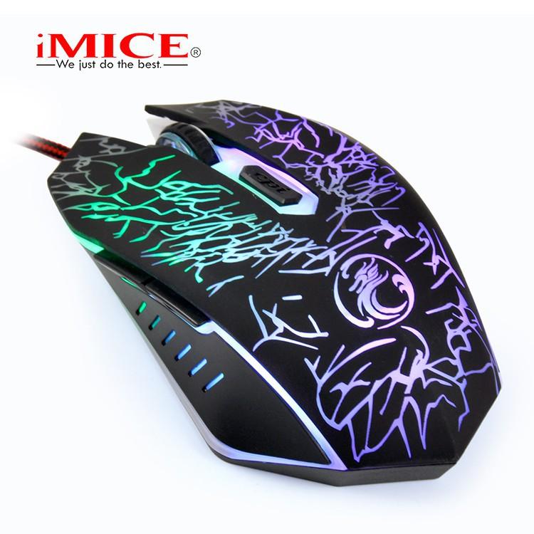 Mouse Gaming IMICE X5 Dây dù - Led 7 màu