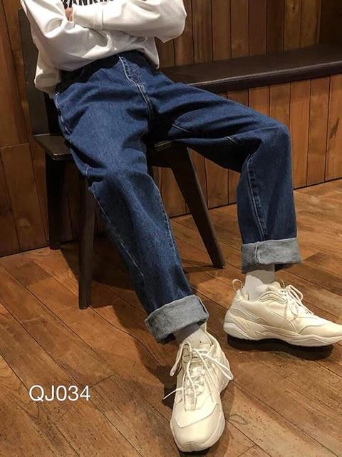 QJ034 - Quần jean baggy nam basic