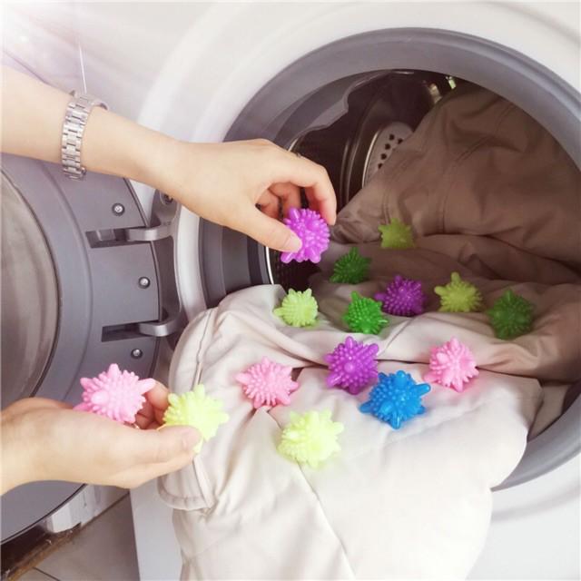 [CỰC RẺ] Bóng giặt Silicone thông minh, giúp giặt sạch hơn, không hại quần áo và máy giặt GIÁ SỈ