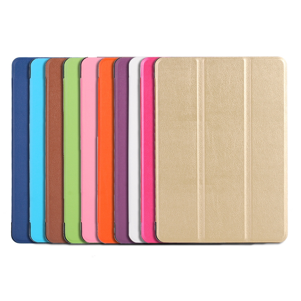 iPad 5 9.7 Inch With Stand Flip Case For iPad Air Tablet For iPad 2018 Smart Cover Solid Color