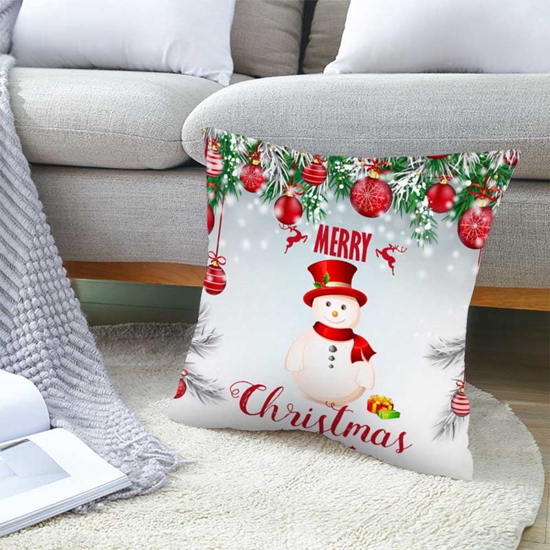 Longchunshang Vỏ Gối Sofa 18 '' Trang Trí Giáng Sinh 2187