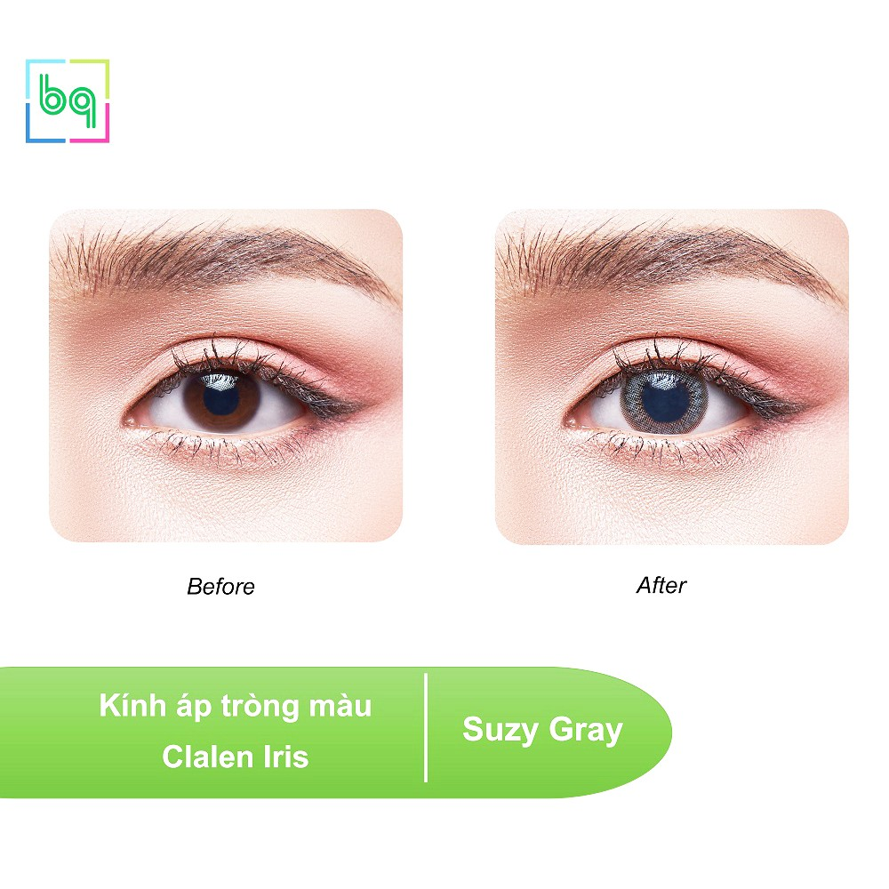[5 cặp] Kính áp tròng màu SUZY GRAY Hàn Quốc dùng 1 ngày Clalen Iris