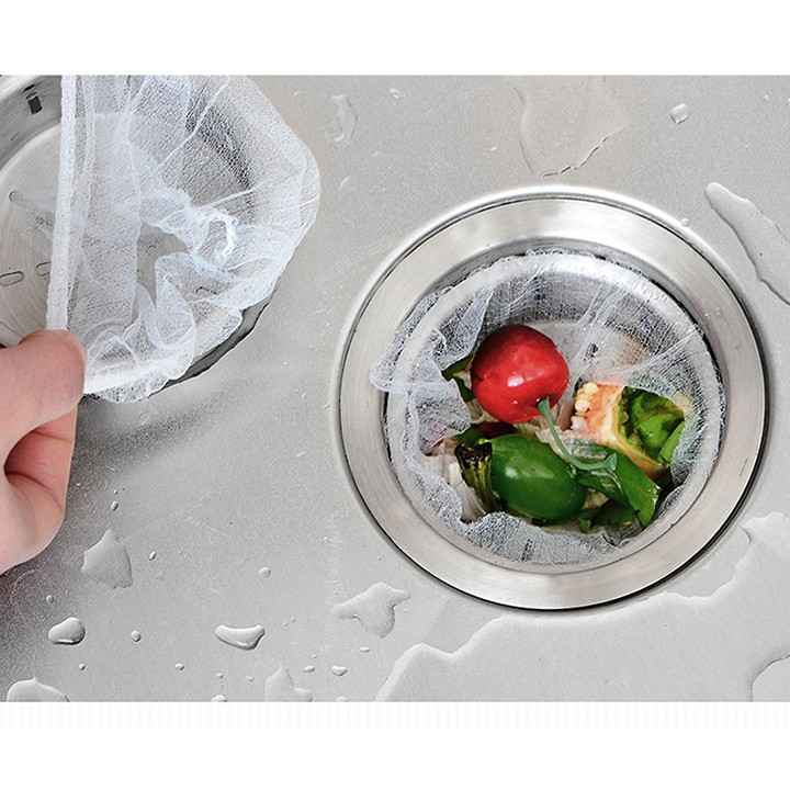 100 túi lọc rác thông minh chất lượng vải lưới giúp ngăn rác thừa chống gây tắc đường ống bồn rửa diệu shop