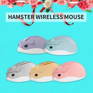 Chuột quang không dây 1600DPI cổng cắm USB thiết kế hình chuột hamster nhỏ nhắn dễ thương