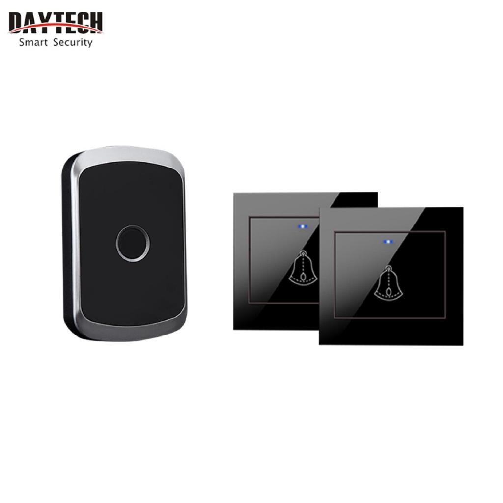 Daytech Chuông cửa không dây Model DB06 chống thấm nước DB06-P đi kèm 1 thiết bị nhận tín hiệu