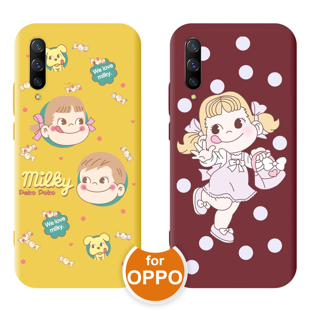 OPPO AX7 A5S A3S A7 2018 Cover F7 F9 F11 Pro Realme C1 U1 Cute Milky Peko Poko TPU Soft Phone Case