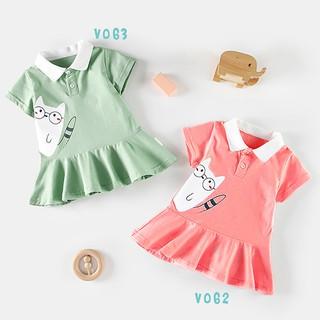 Váy Cotton In hi nh Cho Bé Gái Dáng Xòe Siêu Đáng Yêu 2 Màu Thời Trang Bello Land thumbnail