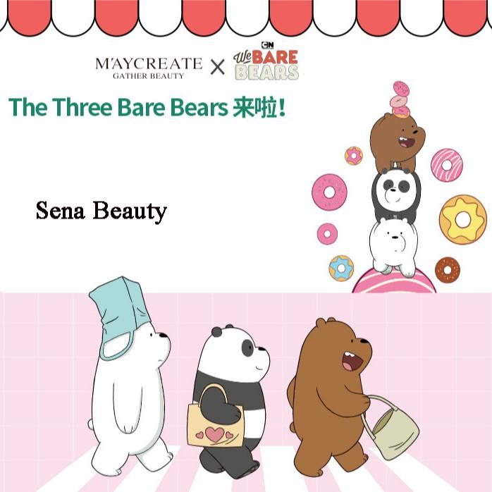 (1+1) Phấn Nước Cushion Hoạt Hình Maycreate x The Three Bare Bears Tặng Kèm Lõi Thay