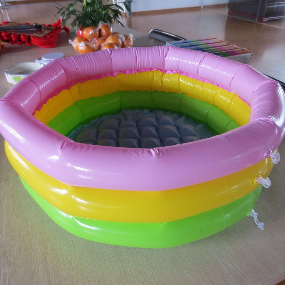 tway 3 Ringed Inflatable Swimming Paddling Pool Rainbow Pool