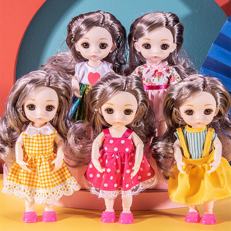 Off-the-Shelf Explosion Ddung 16cm Cute Doll Princess Puzzle Play House Girl Doll Toy Gift
