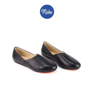 Giày búp bê nữ đế bệt da thật êm chân mang du lịch Misho 1036