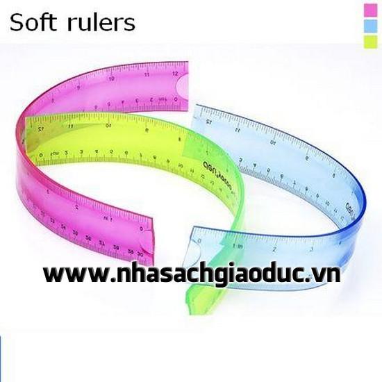 Thước Dẻo 30cm Deli 6209 (Soft Rule) - Hàng chính hãng