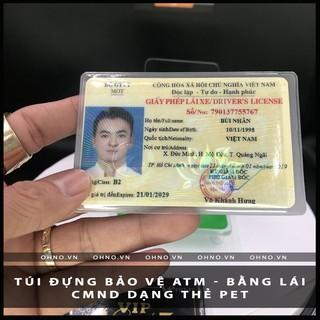 TU I BAO NHỰA DẺO ĐỰNG THẺ CĂN CƯỚC BẰNG LÁI XE dạng thẻ PET NGÂN HÀNG CARD 9x6cm THẺ ATM NHÂN SINH VIÊN VIP thumbnail