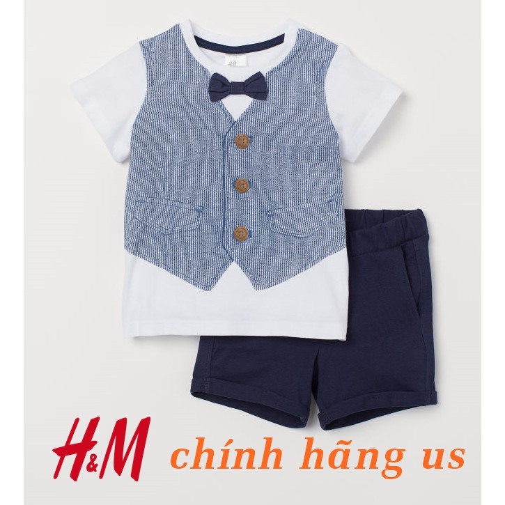 Set bộ giả vest công tử cho bé trai H&M HM chính hãng đồ bộ bé trai 9 tháng đến 4