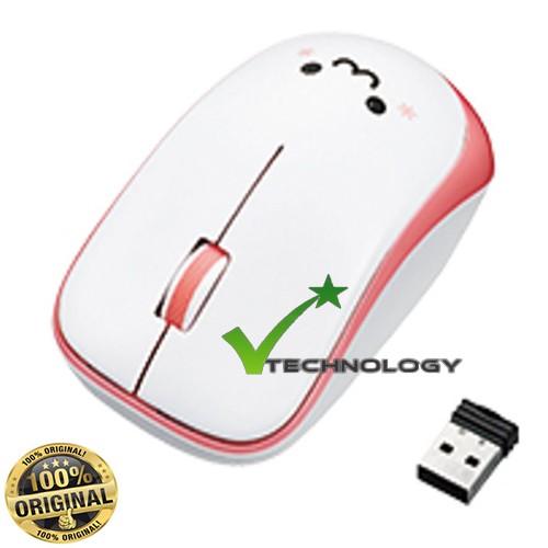 [CHÍNH HÃNG] Chuột không dây kèm pin Elecom M-IR07DR (Trắng Hồng) - Bảo hành 06 tháng
