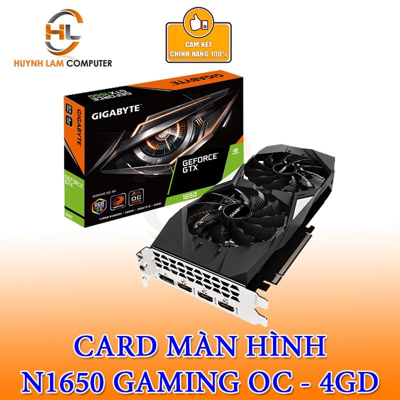 Card màn hình GIGABYTE GeForce GTX 1650 4GB GDDR5 Gaming OC (GV-N1650GAMING OC-4GD)