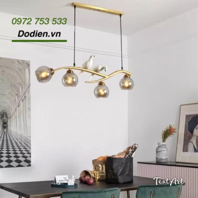 Đèn chùm thả  Bắc Âu hiện đại bằng thủy tinh trang trí phòng khách,bàn ăn