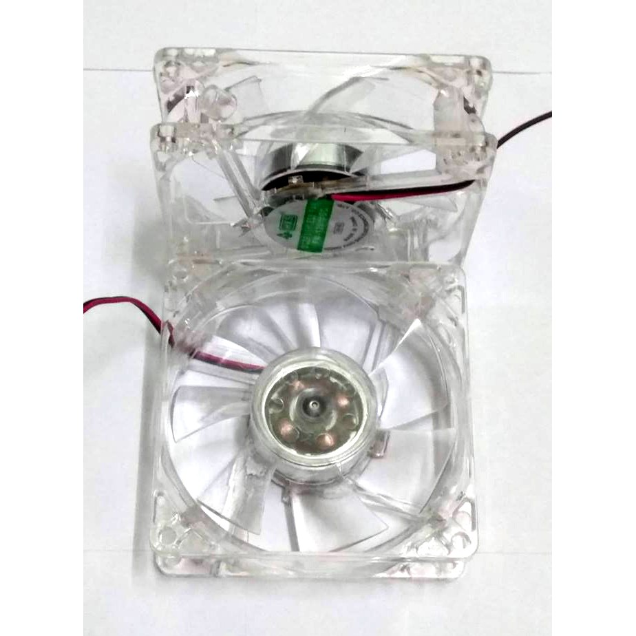 Quạt tản nhiệt Case thùng máy 80mm ( 8cm ) LED, có ốc kèm theo