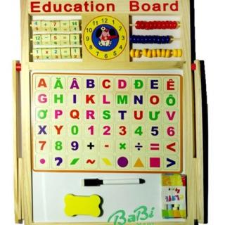 Bảng học chữ cái tiếng việt và số nam châm 2 mặt