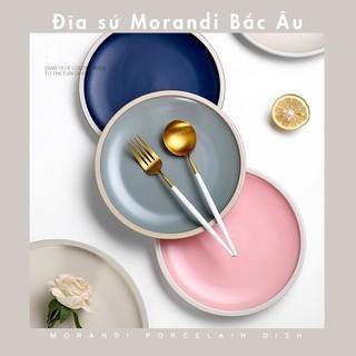 [DEAL SỐC] Đĩa sứ tròn Monradi cao cấp phong cách Bắc Âu sáng tạo dĩa mì ý dĩa trang trí