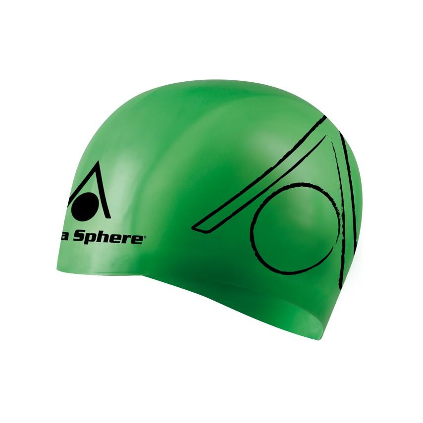 Mũ bơi Aquasphere Tricap Silicon (Xanh lá)