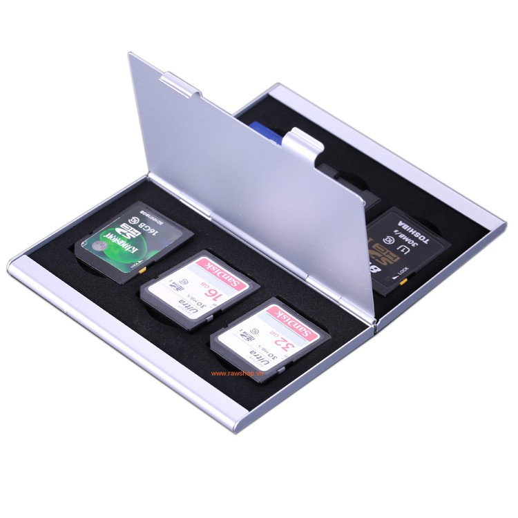 Hộp đựng thẻ nhớ chống sốc LYNCA 6 thẻ SD hoặc 4 thẻ CF SL7 SL8