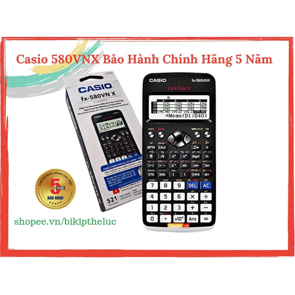 Máy Tính Casio FX 580 VNX Hàng Chính Hãng Bảo Hành 5 Năm BITEX