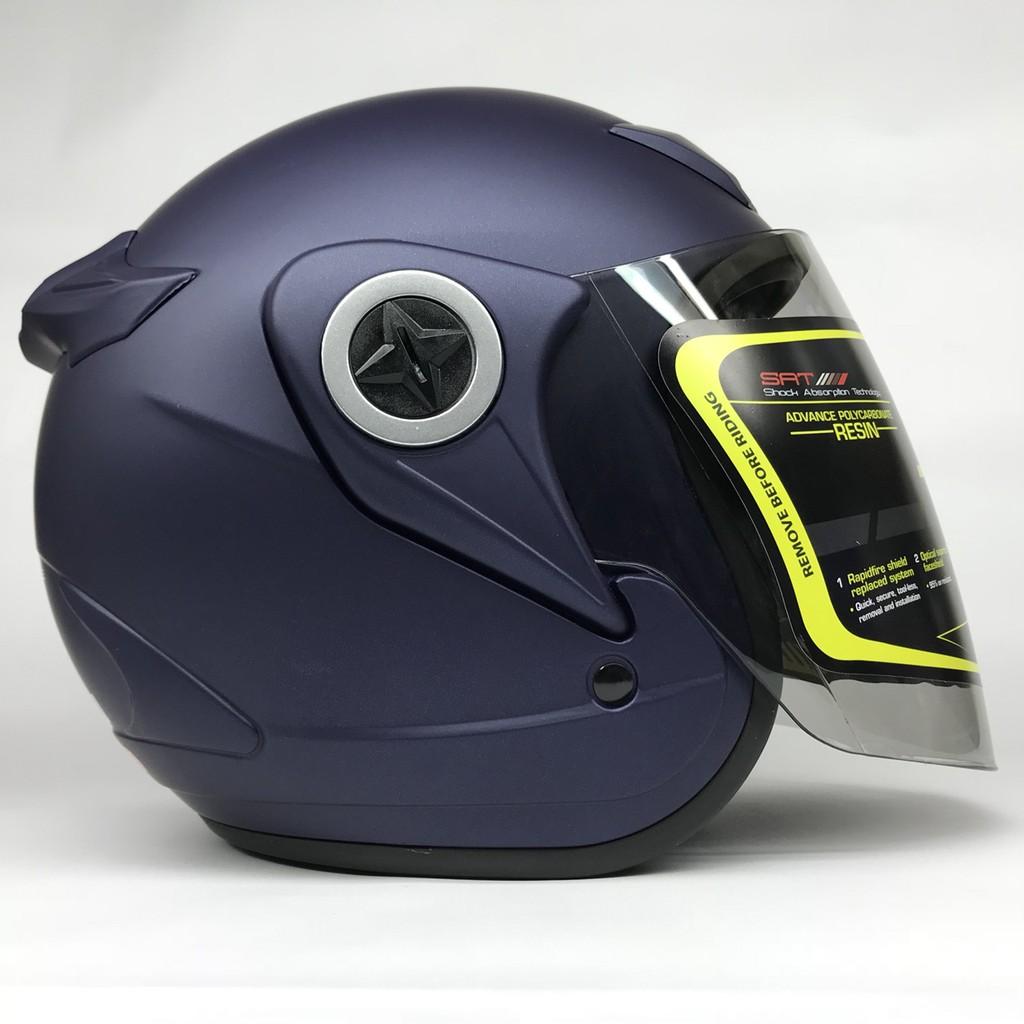 Mũ bảo hiểm Asia M168 xanh nhám kính tùy chọn