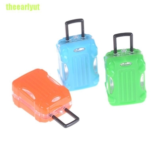 theearlyut Dollhouse Travel Accessories Doll Suitcase Trunk Girl Gift Toy