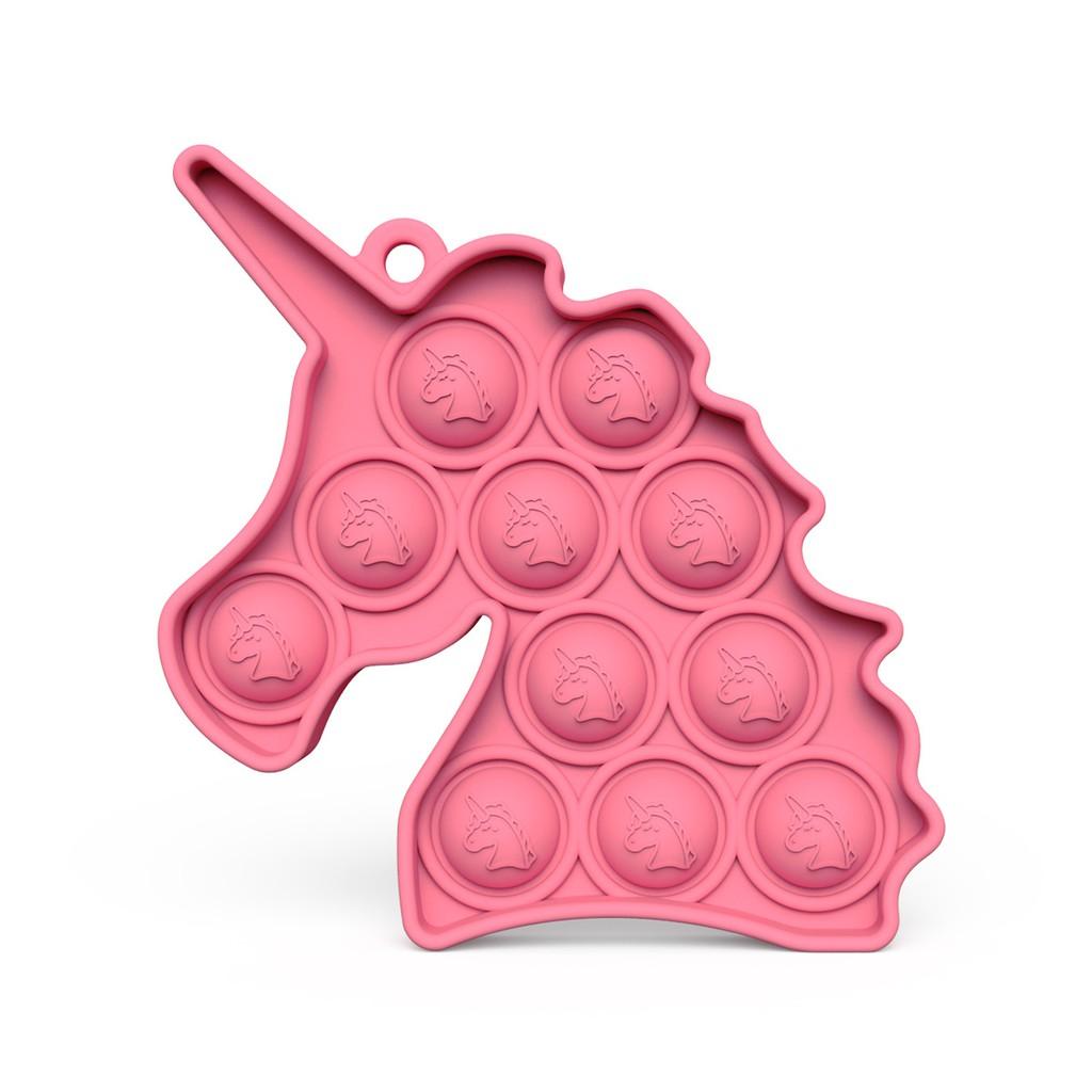 ☽❃Unicorn Keychain, Rodent Pioneer, Children's Mental Arithmetic Đồ chơi giáo dục dành cho máy tính để bàn push pop fidg