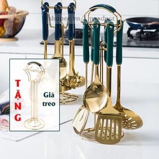 Dụng cụ nhà bếp bộ 6 món Iproduct sang trọng với màu xanh ngọc lục bảo