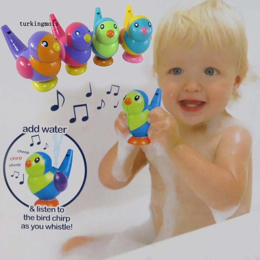TK-2in1 Random Color Baby Toddlers Bird Water Whistle Kids Children Bath Toy Gift