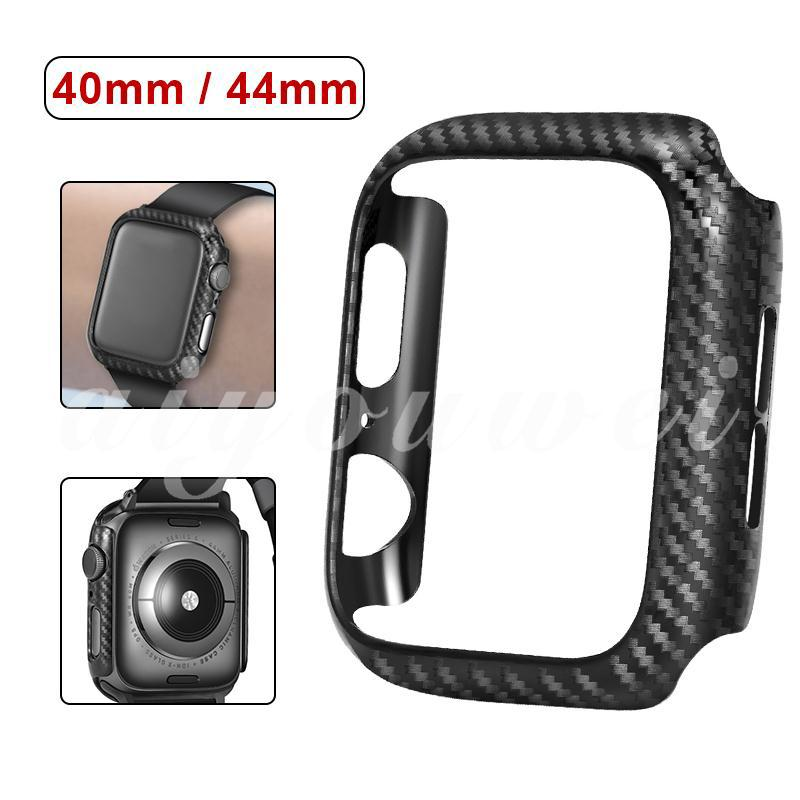 AI for Apple Watch 40mm 44mm Carbon Fiber Watch Cover Equipment Protective