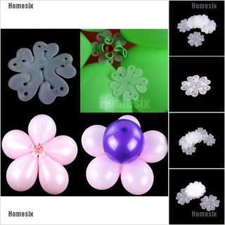 [QHMSI] Fashion 10pcs 6 in 1 Seal Clip Ballons Accessories Plum Flower Clip Sealing Clamp TYU