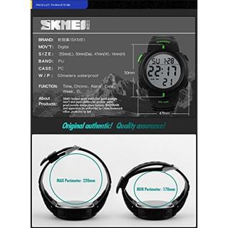 Đồng hồ thể thao thời trang nam điện tử dây cao su Skmei 1068