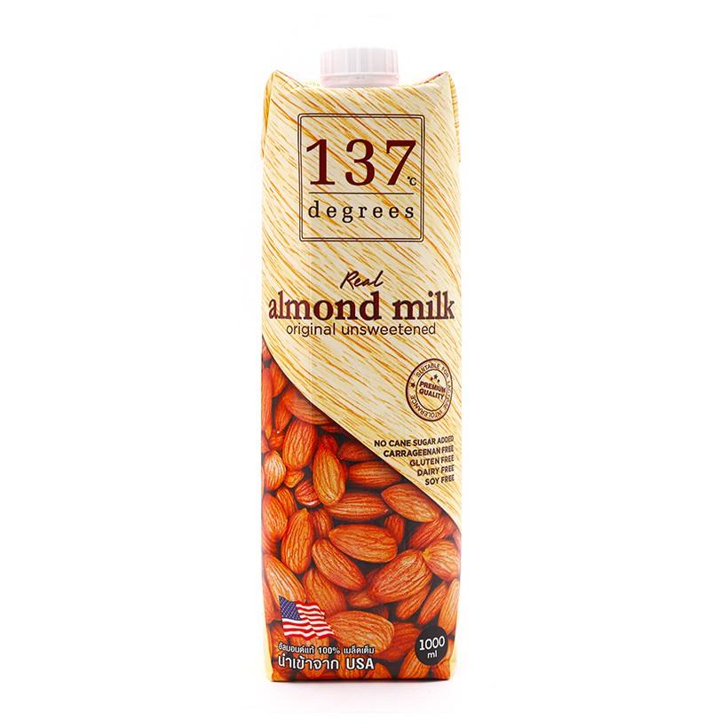 [HOT] Sữa hạt 137 DEGREES hạnh nhân nguyên chất không ngọt hộp 1L
