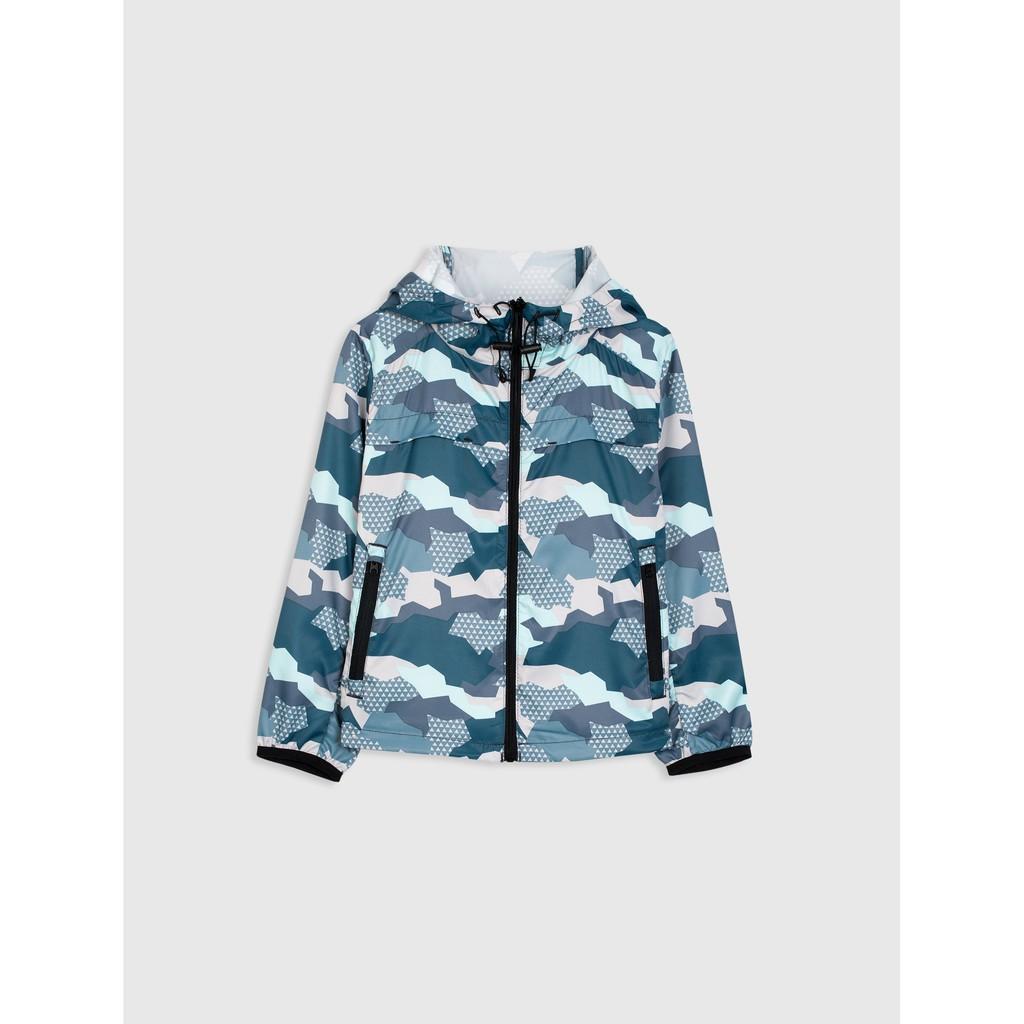 Áo khoác bé trai dài tay chống thấm nước có kèm mũ CANIFA 2OT18W004