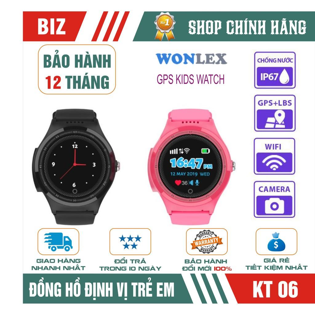 ĐỒNG HỒ ĐỊNH VỊ TRẺ EM WONLEX KT06 - CHÔNG NƯỚC IP67 - Hàng Chính Hãng
