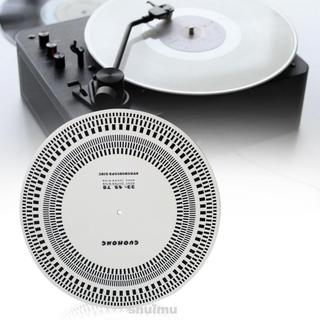 Tools Round Practical Acrylic Protractor LP Vinyl Record Turntable Speed Checker Tachometer