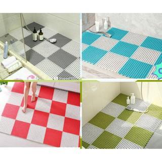 Tấm thảm nhựa ghép chống trơn kháng khuẩn, chống trơn nhà tắm, nhà vệ sinh, kích thước 30x30cm
