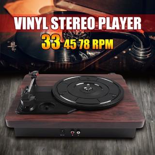 Máy hát đĩa cổ điển họa tiết vân gỗ 33 RPM 45 RPM 78RPM