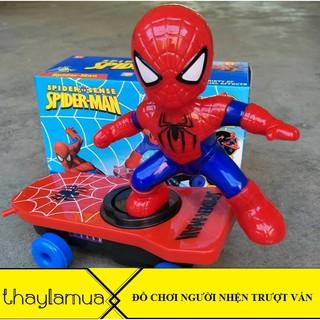 Combo 10 bộ đồ chơi người nhện trượt ván có âm thanh vui nhộn hoạt động bằng pin
