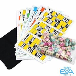 Bộ Đồ Chơi Cờ Lô Tô Giấy Và Gỗ Bingo Lotto Việt